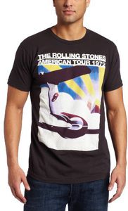The Rolling Stones American Tour 1972 Airplane (Mens /  Unisex Adult T-Shirt) Charcoal, SS [Small] Front Print Only