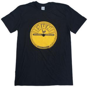 Sun Records Classic Logo Black Unisex Adult Short Sleeve Tee Shirt(XL)