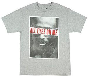 Tupac Shakur All Eyez On Me (Mens /  Unisex Adult T-shirt) Heather Grey, SS [XXL] Front Print Only