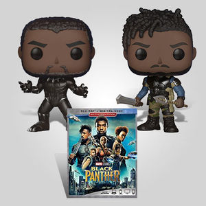 Black Panther Funko Blu-ray Bundle