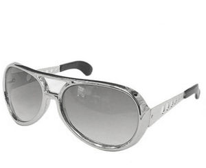 Elvis Presley Late 60's Early 70's Las Vegas Era Silver Sunglasses