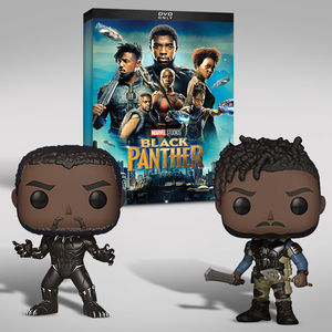 Black Panther Funko Dvd Bundle