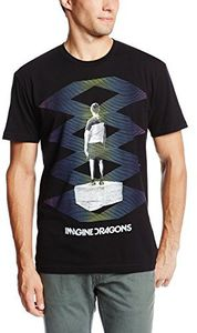 Imagine Dragons Zig Zag (Mens /  Unisex Adult T-shirt) Black, SS [XL] Front Print Only