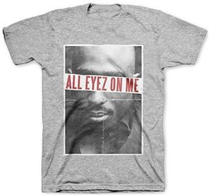 Tupac Shakur All Eyez On Me (Mens /  Unisex Adult T-shirt) Heather Grey, SS [Small] Front Print Only
