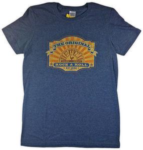 Sun Record Company The Original Rock & Roll Est 1952 Heather Navy Unisex Adult Short Sleeve Tee Shirt (Large)