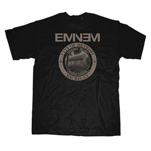 Eminem City Of Detroit Seal (Mens /  Unisex Adult T-Shirt) Black, SS [XXL] Front Print Only