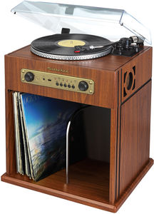 Studebaker SB6059 Stereo Turntable with Bluetooth Receiver and Record Storage