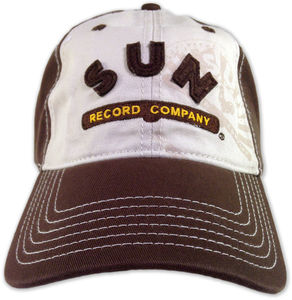 Sun Record Company Distressed Adjustable Baseball Cap