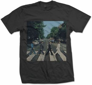 The Beatles Abbey Road (Mens /  Unisex Adult T-Shirt) Black, SS [Large] Front Print Only