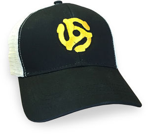 45 Record Adapter Black Cotton Trucker Hat
