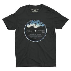 Bluescentric Johnny Winter John Dawson Winter III Vinyl Record BlackLightweight Vintage Style T-Shirt (2XL)
