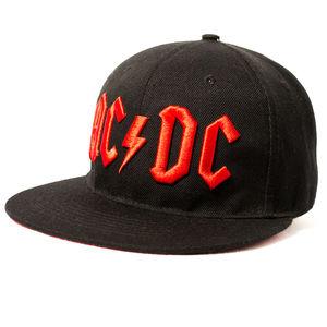 AC/ DC Embroidered Logo Snapback Baseball Cap