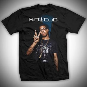 Kid Cudi Peace Sign (Mens /  Unisex Adult T-Shirt) Black, SS [Small] Front Print Only