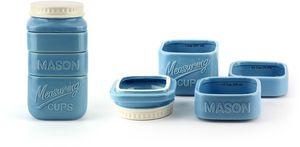 Barbuzzo Mason Stack Measuring Cups Blue