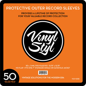 """Vinyl Styl™ 12.75"""" X 12.75"""" 3 Mil Protective Outer Record Sleeve 50CT"""