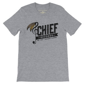 Chief Records EST. 1957 Chicago, Illinois Heather Grey LightweightVintage Style T-Shirt (Large)