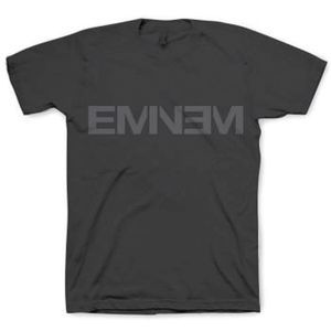 Eminem Logo (Mens /  Unisex Adult T-Shirt) Black, SS [XL] Front Print Only