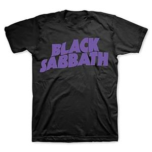 Black Sabbath Master Of Reality Logo (Mens /  Unisex Adult T-Shirt) Black, SS [Small] Front Print Only