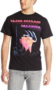 Black Sabbath Paranoid Album Cover (Mens /  Unisex Adult T-Shirt) Black, SS [Large] Front Print Only