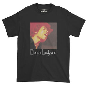 Jimi Hendrix Electric Ladyland Black Heavy Cotton Style T-Shirt (XXL)