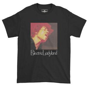 Jimi Hendrix Electric Ladyland Black Heavy Cotton Style T-Shirt (XXL)