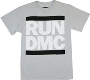 Run D.M.C. Logo (Mens /  Unisex Adult T-Shirt) Black, SS [Medium] Front Print Only