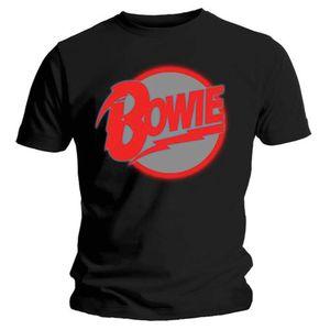 David Bowie Diamond Dogs Logo (Mens /  Unisex Adult T-Shirt) Black, SS [XL] Front Print Only