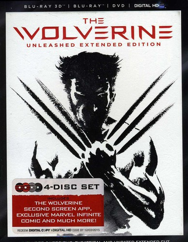 Wolverine [Unleashed Extended Edition] [4 Discs] [3D/2D] [Blu-ray/DVD]