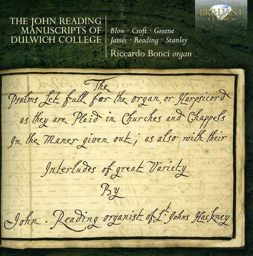 John Reading Manuscripts of Dulwich College