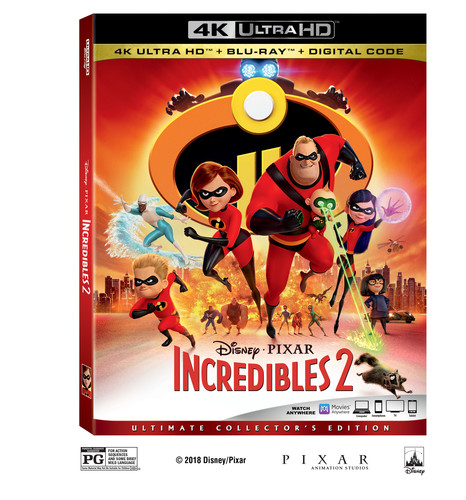 Incredibles 2 [4K Ultra HD Blu-ray/Blu-ray]