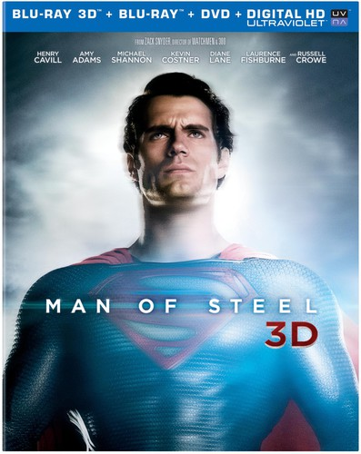 Man of Steel 3D [4 Discs] [UltraViolet] [3D/2D] [Blu-ray/DVD]