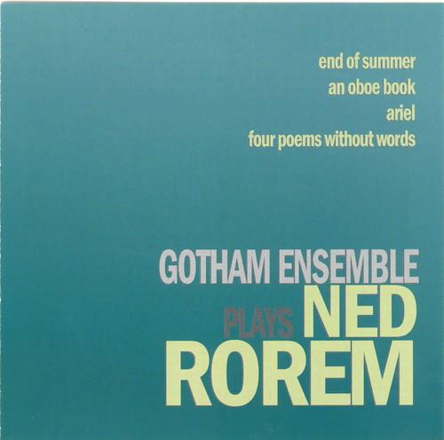 Gotham Ensemble Plays Ned Rorem
