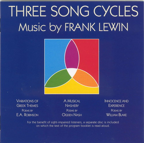 3 Song Cycles By Frank Lewin