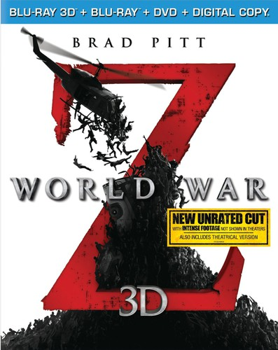 World War Z 3D [Unrated] [3 Discs] [3D/2D] [Blu-ray/DVD]