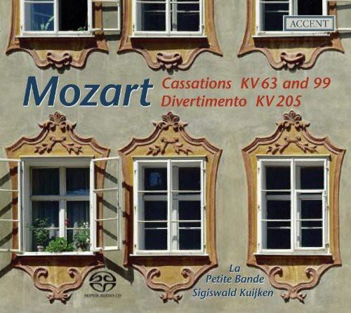 Cassations KV63 & 99 /  Divertimento KV205