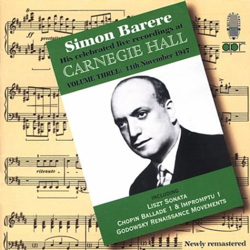 His Celebrated Live Recordings at Carnegie Hall-Vo