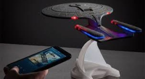8a8ab838a40d69 Fametek STENTD Star Trek TNG USS Enterprise Bluetooth Speaker withSound  Effects. (Bluetooth). Product Image
